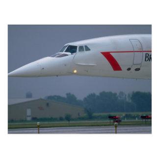 Needle nose of a British Airways Concorde Postcard