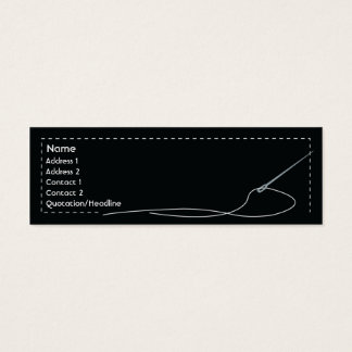Needle - Skinny Mini Business Card