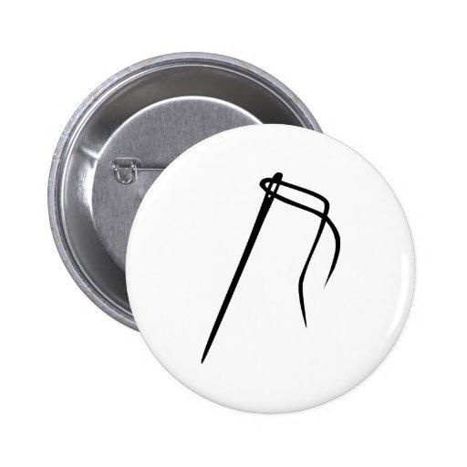 Needle - thread button
