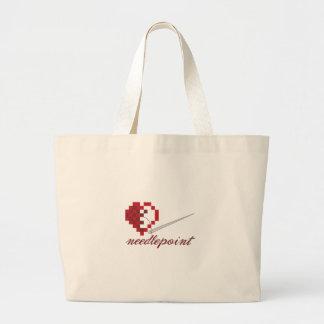 Needlepoint Large Tote Bag