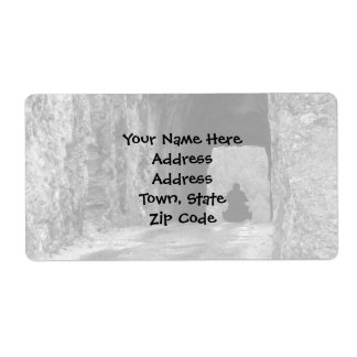 Needles Highway Tunnel Shipping Label