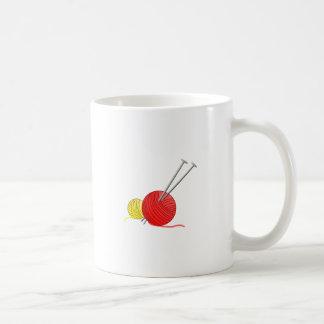 Needles & Yarn Basic White Mug