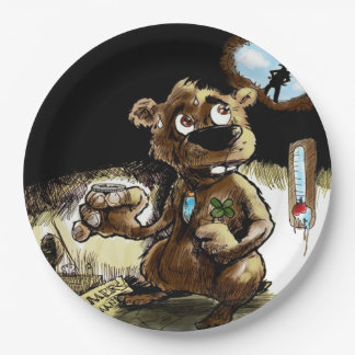 Needs Some Luck Groundhog Day Party Paper Plate 9 Inch Paper Plate