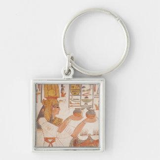 Nefertari Making an Offering Keychain