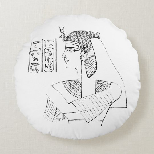Nefertari Round Pillow