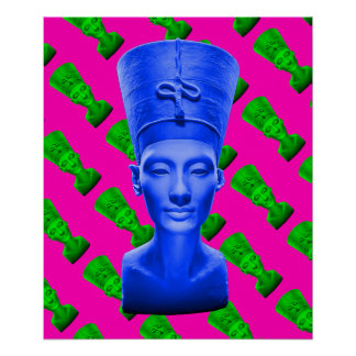 Nefertiti Blue Poster