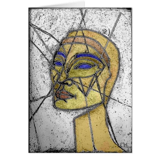 nefertiti old stained glass (card) card