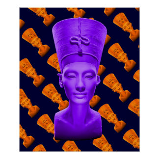 Nefertiti Purple Poster