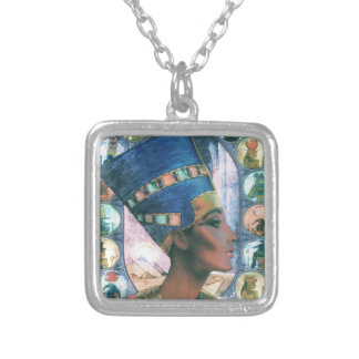 Nefertiti Silver Plated Necklace