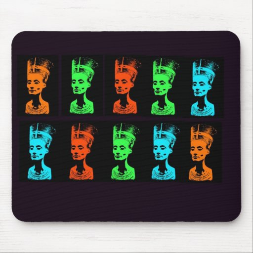 Nefretiti Collage Mouse Pad