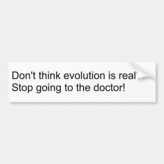 Négateur d'évolution ? Cessez d'aller au docteur ! Autocollant De Voiture