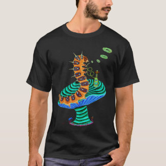 Negative Caterpillar and Cat T-Shirt