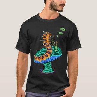 Negative Caterpillar and Cat T-Shirt