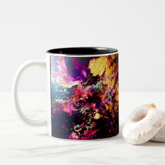 Negative Explosion Two-Tone Coffee Mug