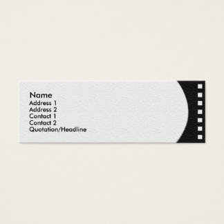 Negative Film Strip Profile Card