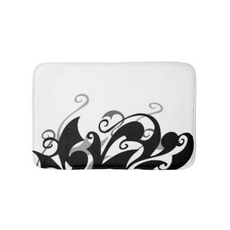 Negative Shadow Swirl Bath Mat