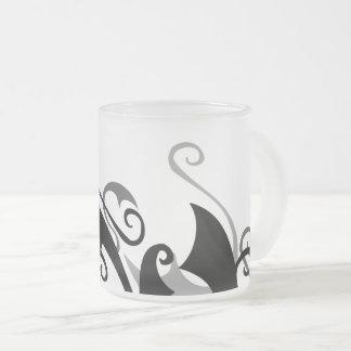 Negative Shadow Swirl Frosted Glass Coffee Mug