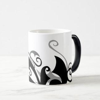 Negative Shadow Swirl Morphing Mug
