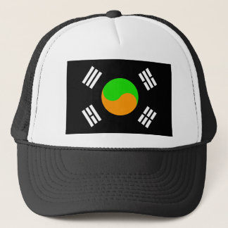 Negative South Korean Flag Trucker Hat
