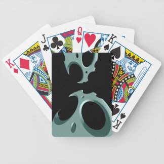 Negative Space Bicycle Playing Cards