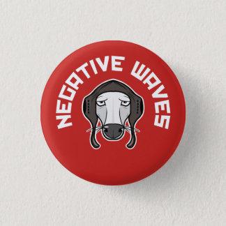 Negative waves 1 inch round button