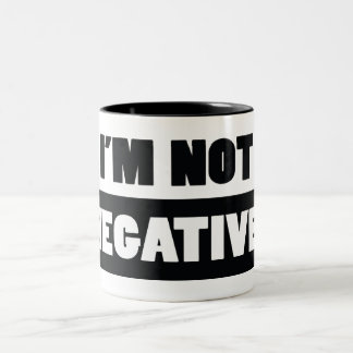 Negative (white) Two-Tone coffee mug