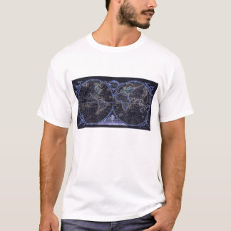 Negative World Map T-Shirt