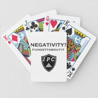 Negativity? Fugetaboutit Poker Deck