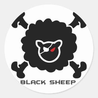Negra sheep classic round sticker