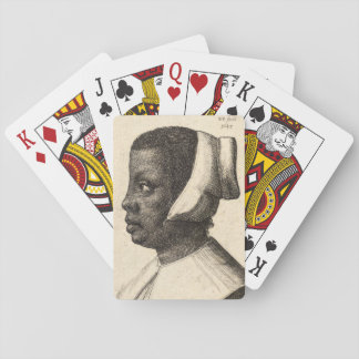 Negress by Wenceslaus Hollar Poker Deck