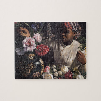 Negress with Peonies Jigsaw Puzzle