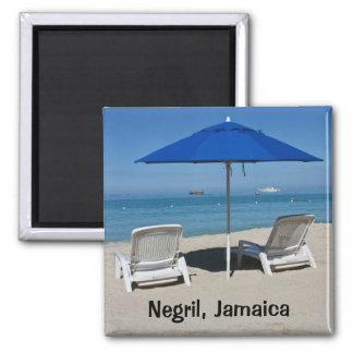 Negril, Jamaica Beach Square Magnet