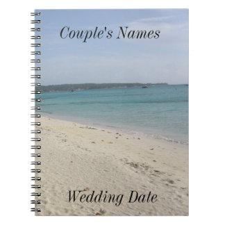 Negril Jamaica Beach Wedding Guestbook Spiral Notebook