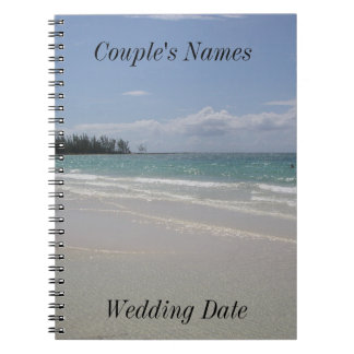 Negril Jamaica Beach Wedding Guestbook Spiral Note Book