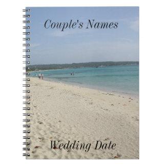 Negril Jamaica Beach Wedding Guestbook Spiral Notebooks