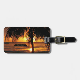 Negril, Jamaica sunset Luggage Tag