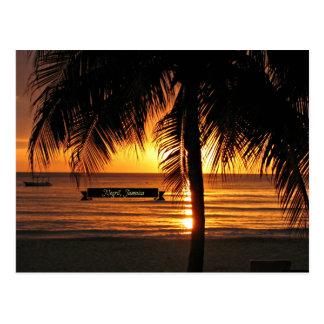 Negril, Jamaica sunset Postcard