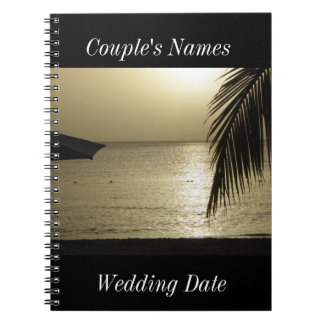 Negril Jamaica Wedding Guestbook Note Book