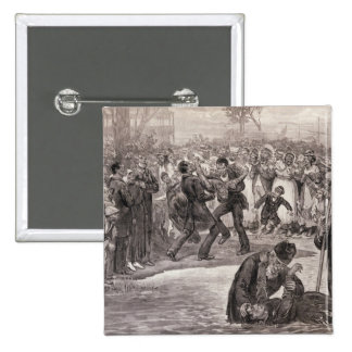 Negro Baptism in the United States 2 Inch Square Button