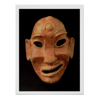 Negroid mask from Carthage, 7th-6th century BC (te Poster
