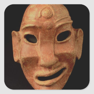 Negroid mask from Carthage, 7th-6th century BC (te Square Sticker