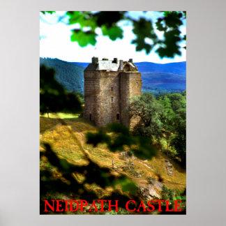 neidpath castle poster