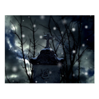 Neige dans la carte postale de cimetière