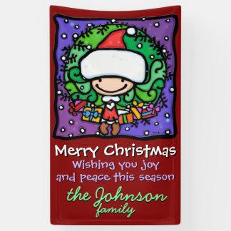 Neige de cadeaux de guirlande de Père Noël de Noël Banderoles