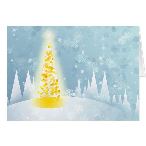 Neige de Noël Carte De Vœux