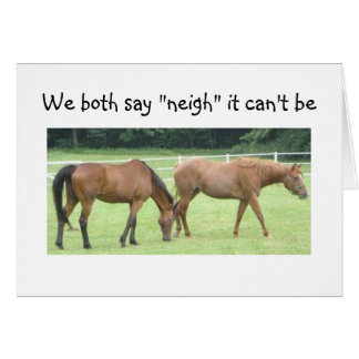 "NEIGH-NOT ""40""=GROUP CARD"
