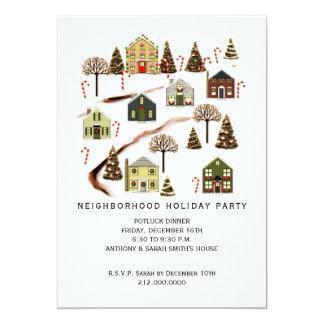 neighborhood holiday party invitations