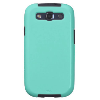 Neighborly Quietude Turquoise Blue Color Galaxy SIII Case