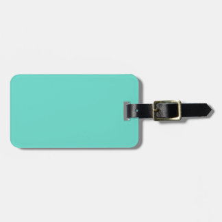 Neighborly Quietude Turquoise Blue Color Luggage Tag