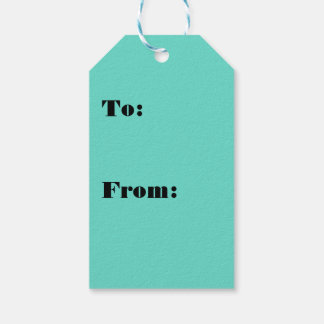 Neighborly Quietude Turquoise Blue Color Pack Of Gift Tags